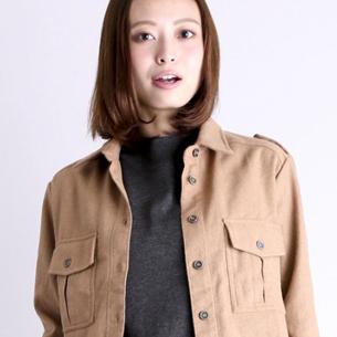 【Denimeインスタ-ミリタリーシャツ】